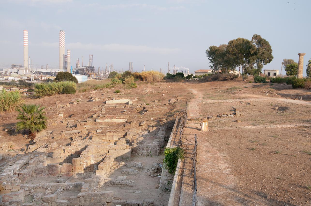 Vista dagli scavi archeologici